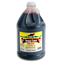 Fox's Birch Beer Snow Cone Syrup 4 -1 Gallon Containers / Case