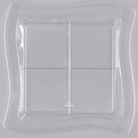 Fineline Tiny Temptations 6206-CL 7 1/4 inch x 7 1/4 inch Clear Disposable Plastic Tray   - 120/Case