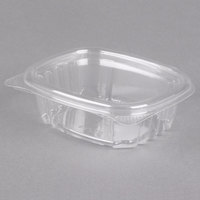 Genpak AD04 4 oz. Clear Hinged Deli Container - 400/Case