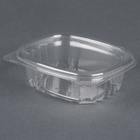 Genpak AD04 4 1/4 inch x 3 5/8 inch x 1 1/4 inch 4 oz. Clear Hinged Deli Container - 400 / Case