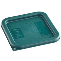 Carlisle 1197008 Forest Green Polypropylene Lid for 2 and 4 Qt. Square Containers