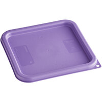 Carlisle 1197189 Purple Allergen-Free Polypropylene Lid for 6 and 8 Qt. Square Containers
