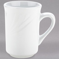 Tuxton YPM-080 Sonoma 7.5 oz. Bright White Embossed Rim China Mug - 36/Case