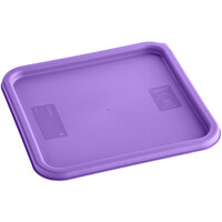 Carlisle 1197289 Purple Allergen-Free Polypropylene Lid for 12, 18, and 22 Qt. Square Containers
