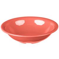 Carlisle 3303252 Sierrus 16 oz. 7 1/2 inch Sunset Orange Rimmed Melamine Bowl - 24/Case