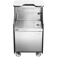 Perlick MOBS-24DSC 24 inch Stainless Steel Mobile Storage Cart with Drainboard