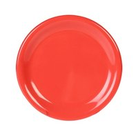 Thunder Group CR007RD 7 7/8 inch Orange Wide Rim Melamine Plate - 12/Pack