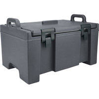 Cambro UPC100191 Granite Gray Camcarrier Ultra Pan Carrier with Handles - Top Load for 12 inch x 20 inch Food Pans