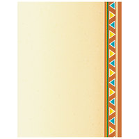 8 1/2 inch x 11 inch Menu Paper - Southwest Themed Fiesta Border Design Right Insert - 100/Pack