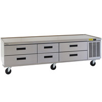 Delfield F2987CP 87 inch Six Drawer Refrigerated Chef Base