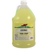 Fox's Coconut Slush Syrup - (4) 1 Gallon Containers / Case