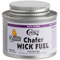 Choice 2 Hour Wick Chafing Dish Fuel with Safety Twist Cap - 12/Pack