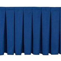 National Public Seating SB16 Navy Box Stage Skirt for 16 inch Stage