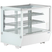 Avantco BCS-28-HC 27 1/2 inch White Refrigerated Square Countertop Bakery Display Case with LED Lighting