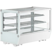 Avantco BCS-35-HC 34 1/2 inch White Refrigerated Square Countertop Bakery Display Case with LED Lighting