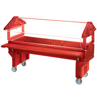 Carlisle 660805 Red 6' Six Star Open Base Portable Youth Food / Salad Bar