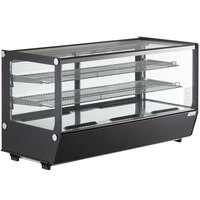 Avantco BCS-48-HC 48 inch Black Refrigerated Square Countertop Bakery Display Case with LED Lighting