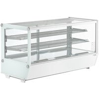 Avantco BCS-48-HC 48 inch White Refrigerated Square Countertop Bakery Display Case with LED Lighting