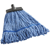 Continental A401006 Huskee Muscle Mop Blue Large Blend Loop End Wet Mop Head with Screw-On Band