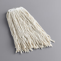 Continental A503320 HuskeePro No Marr Pinnacle Natural 20 oz. Cotton Cut-End Wet Mop Head with Screw-On Band