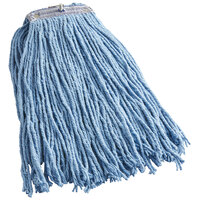 Continental A430316 HuskeePro No Marr Pinnacle Blue 16 oz. Cotton / Rayon Blend Cut-End Wet Mop Head with Screw-On Band