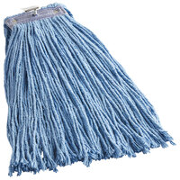 Continental A430320 HuskeePro No Marr Pinnacle Blue 20 oz. Cotton / Rayon Blend Cut-End Wet Mop Head with Screw-On Band