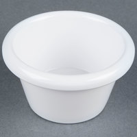 3 oz. White Smooth Melamine Ramekin - 12/Pack