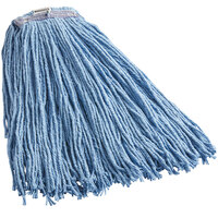 Continental A430324 HuskeePro No Marr Pinnacle Blue 24 oz. Cotton / Rayon Blend Cut-End Wet Mop Head with Screw-On Band