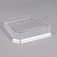 Genpak SQ90 10 inch Clear Square Dome Lid - 200/Case