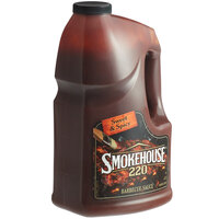 Smokehouse 220 1 Gallon Sweet and Spicy BBQ Sauce - 4/Case