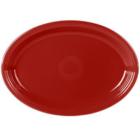 Fiesta Tableware from Steelite International HL968326 Scarlet 19 1/4 inch x 13 1/2 inch Oval Extra Large China Serving Platter - 2/Case