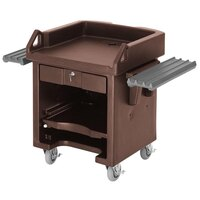 Cambro VCSWR146 Bronze Versa Cart with Dual Tray Rails and Standard Casters