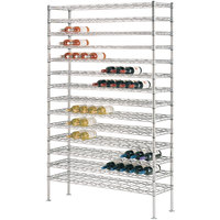 204 Bottle Metro WC258C Super Erecta Cradle Wine Rack 48 inch x 14 inch x 86 3/4 inch