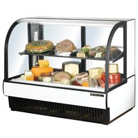 True TCGR-59-CD 59 inch White Curved Glass Refrigerated Deli Case - 32.5 Cu. Ft.