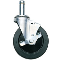 Metro 5MBX 5 inch MetroMax iQ Resilient Swivel Stem Caster with Brake