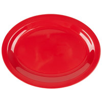Carlisle KL12705 Kingline 12 inch x 9 inch x 1 3/16 inch Red Oval Platter - 12/Case