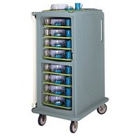 Cambro MDC1418T16401 Slate Blue 2 Compartment Meal Delivery Cart 16 Tray