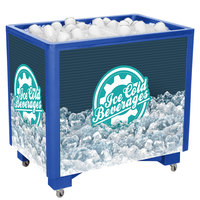 IRP Blue Ice Saver 060 Mobile 100 Qt. Frost Box with Casters