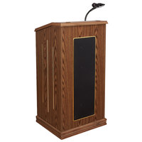 Oklahoma Sound 711-MO Medium Oak Finish Prestige Lectern with Sound