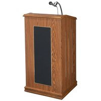 Oklahoma Sound 711MO Medium Oak Finish Prestige Lectern with Sound