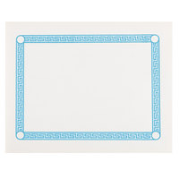 10 inch x 14 inch Greek Key Blue Placemat - 1000/Case