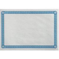10 inch x 14 inch Greek Key Blue Placemat - 1000/Case