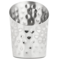 American Metalcraft FFHM45 4 1/2 inch Hammered Stainless Steel French Fry Cup