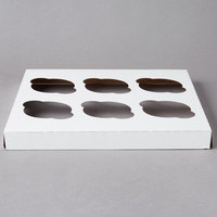 Reversible Cupcake Insert for 10 inch x 10 inch Cake Boxes - Standard - Holds 6 Cupcakes   - 10/Pack
