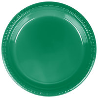Creative Converting 28112021 9 inch Emerald Green Plastic Dinner Plate - 240 / Case