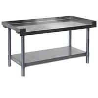 APW Wyott HDS-72C 72 inch x 30 inch Heavy Duty Cookline Equipment Stand with Galvanized Undershelf and Casters