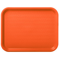 Carlisle CT101424 Cafe 10 inch x 14 inch Orange Standard Plastic Fast Food Tray
