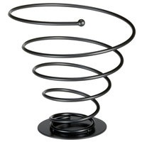 Tablecraft 8175BK Large Black Spiral Wire Cone Basket - 8 1/2 inch x 7 3/4 inch