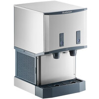 Scotsman HID525AB-1 Meridian Countertop Air Cooled Ice Machine and Water Dispenser with Push Button Dispensing - 25 lb. Bin Storage