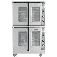 Garland MCO-GD-20S Liquid Propane Double Deck Deep Depth Full Size Convection Oven with Analog Controls - 120,000 BTU